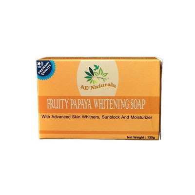 Fruity papaya whitening soap