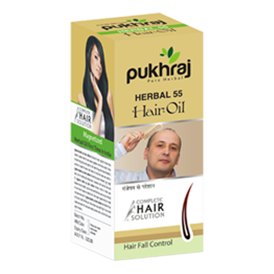 Pukhraj Herbal 55 Hair Fall Control Oil