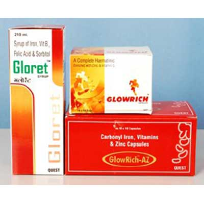 Glore Syrup And Glow rich AZ capsules