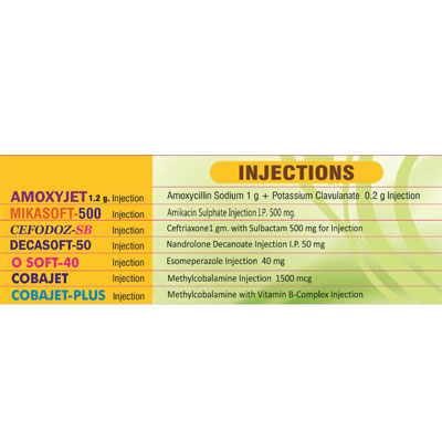 Injectables/ Injections.
